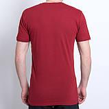 Чоловіча спортивна футболка Adidas, кольору бордо, фото 2