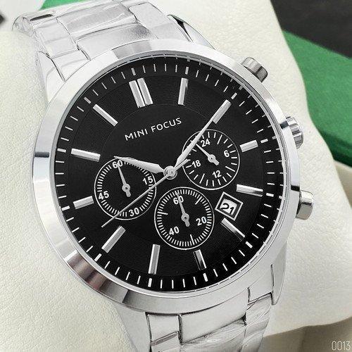 Чоловічі наручні годинники Mini Focus MF0188G.03 Silver-Black (Відеоогляд)