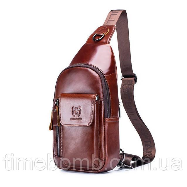 Мужской кожаный рюкзак BullCaptain Elegant