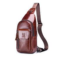 Мужской кожаный рюкзак BullCaptain Elegant, фото 1