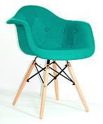 Крісла обідні LEON на букових ніжках, оббивка тканина