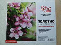 Полотно на картоні з контуром Натюрморт №28 Rosa Start 30х40