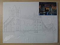 Полотно на картоні з контуром Пейзаж №6 Rosa Talent 30х40