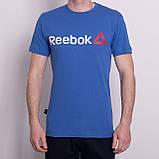 Чоловіча спортивна футболка Reebok, темно-синього кольору, фото 3