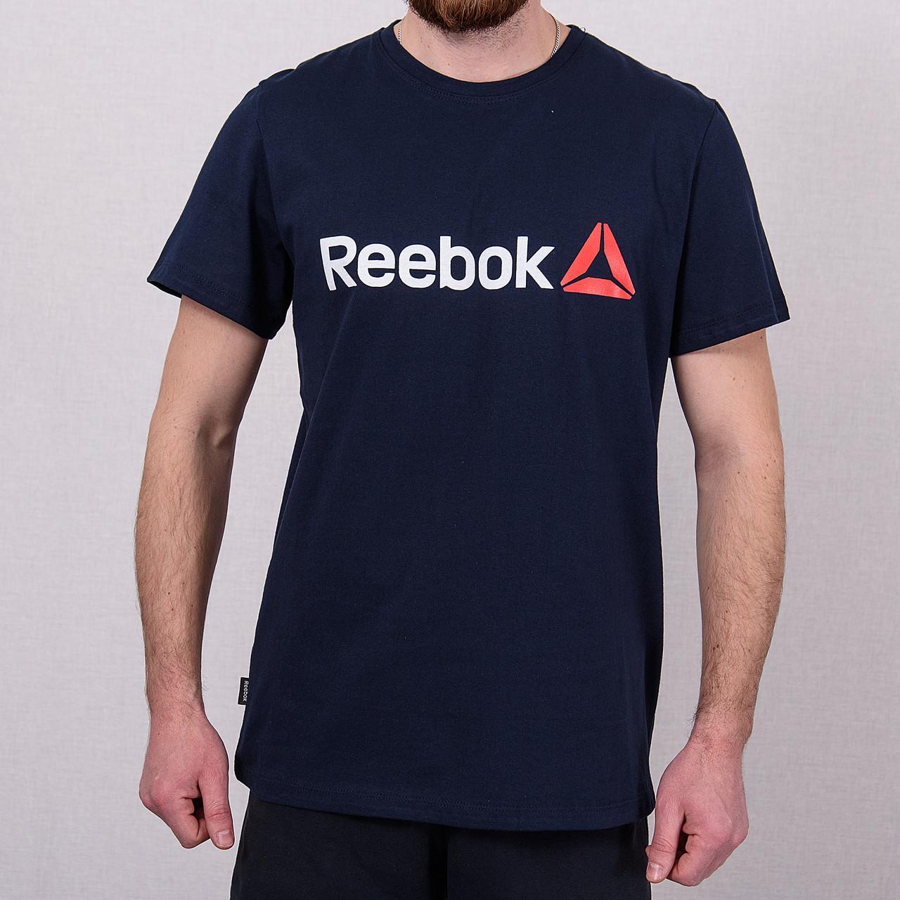 Чоловіча спортивна футболка Reebok, темно-синього кольору