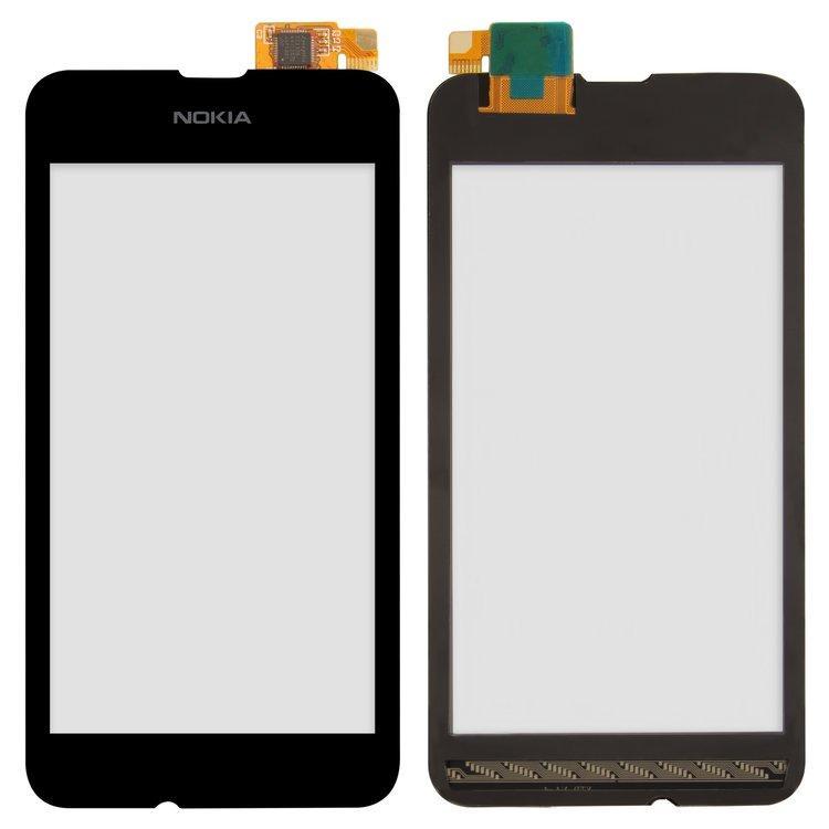 Сенсор (тачскрин) для Nokia 530 Lumia RM-1017 черный