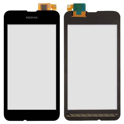 Сенсор (тачскрин) для Nokia 530 Lumia RM-1017 черный, фото 2