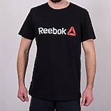 Чоловіча спортивна футболка Reebok, темно-сірого кольору, фото 5