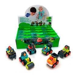 Детский игрушечный набор мини-автомобили Hola Toys рабочая машинка 6 шт.