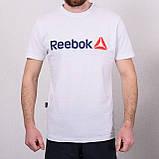Чоловіча спортивна футболка Reebok, чорного кольору, фото 2