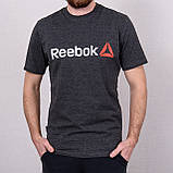 Чоловіча спортивна футболка Reebok, чорного кольору, фото 4