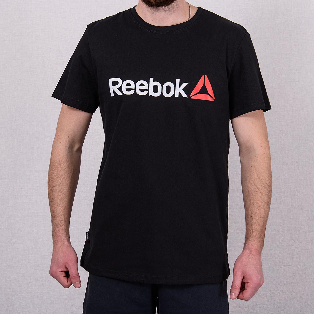 Чоловіча спортивна футболка Reebok, чорного кольору