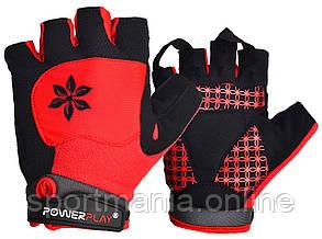 Велоперчатки женские PowerPlay 5284 A Красные XS