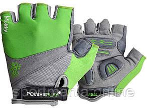 Велоперчатки женские PowerPlay 5277 D Зеленые S