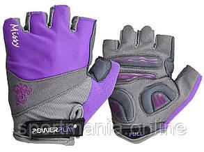 Велоперчатки женские PowerPlay 5277 A Фиолетовые XS