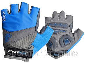 Велоперчатки женские PowerPlay 5277 B Голубые S
