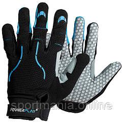 Робочі рукавички PowerPlay 6662 А Чорно-Блакитні L