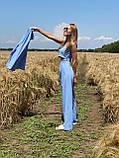 Легкий летний костюм тройка брюки +рубашка +топ, фото 4
