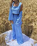 Легкий летний костюм тройка брюки +рубашка +топ, фото 6