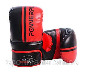 Снарядные перчатки, битки PowerPlay 3025 черно-красные XL