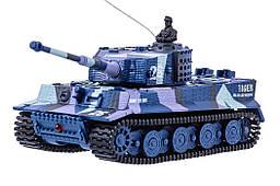 Танк микро р/у 1:72 Tiger со звуком (хаки синий)