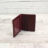 Кардхолдер cardholder буряк из натуральной кожи kapri, фото 5