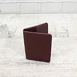 Кардхолдер cardholder буряк из натуральной кожи kapri, фото 8