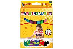 Фломастеры волшебные MALINOS Farbenzauber светлые рисуют по тёмным 10 (5+5) шт