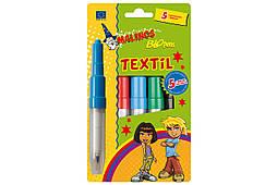 Фломастеры-аэрографы для ткани MALINOS BLOpens Textil текстильные 5 шт