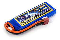 Аккумулятор для страйкбола Giant Power (Dinogy) Li-Pol 7.4V 2S 2200mAh 25C 16х33х102мм T-Plug