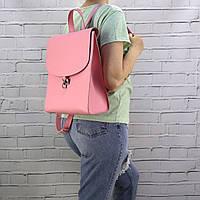 """Рюкзак женский bok-pack розовый из натуральной кожи """"kapri"""""""