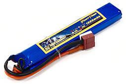Аккумулятор для страйкбола Giant Power (Dinogy) Li-Pol 7.4V 2S 1300mAh 25C 12.5х21х130мм T-Plug