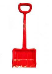 Зимова лопата для снігу червона