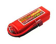 Аккумулятор Dinogy Li-Pol 2200mAh 14.8V 4S 30C 29x34x104мм T-Plug