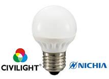 Світлодіодна лампочка CIVILIGHT G45 K2F35T4 4Вт 2700К CRI90 E27  7220