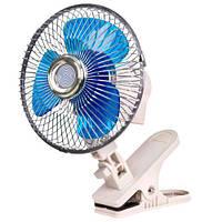 "Вентилятор ""Vitol"" (6"")(12V) на клипсе / две скорости / угол поворота 120 градусов (BH.12.607C)"