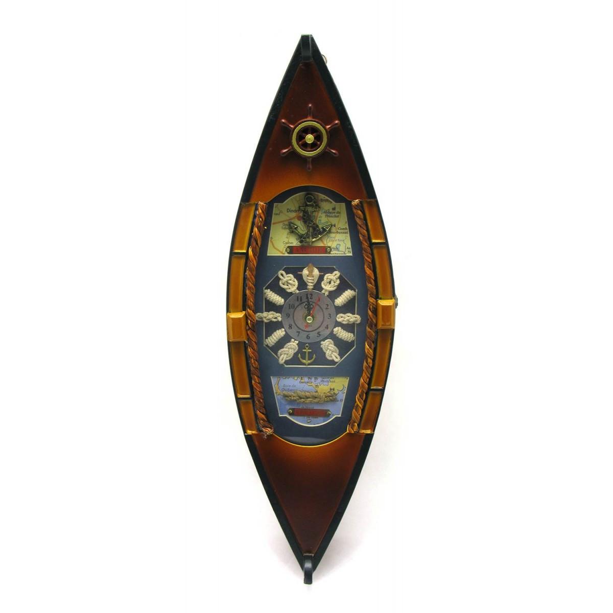 "Ключница ""Лодка с часами"" (фото 13х18 см)(49,5х15х10 см)"