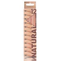 Карандаши графитные 12 шт. НВ шестигранные, Natural - Cedarlite, Marco