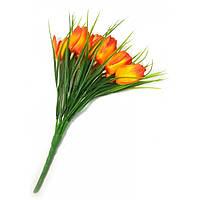 Тюльпаны оранжевые букет  (25 см)
