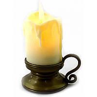 Свеча с Led подсветкой с движущимся пламенем  (9х7х5,5см)