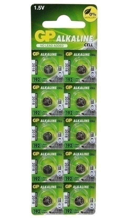 Алкалиновая батарейка lr41 (AG3, 392, V3GA) батарейки для часов и слухового аппарата (10 шт./уп.)