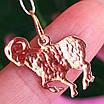 Золотой кулон знак зодиака Овен, фото 2