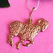 Золотой кулон знак зодиака Овен, фото 3