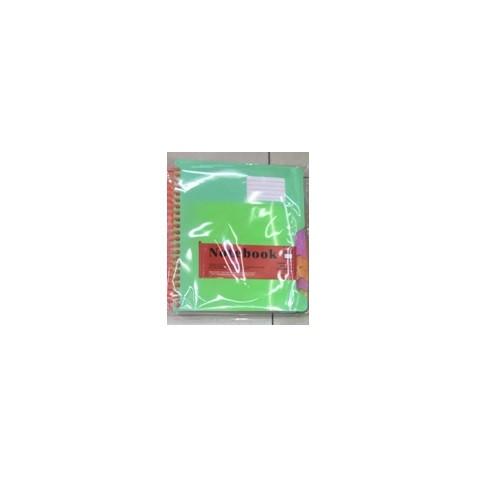 Блокнот пласт. обл. на спирали с раздел. А6 200л ST01407 (120шт)
