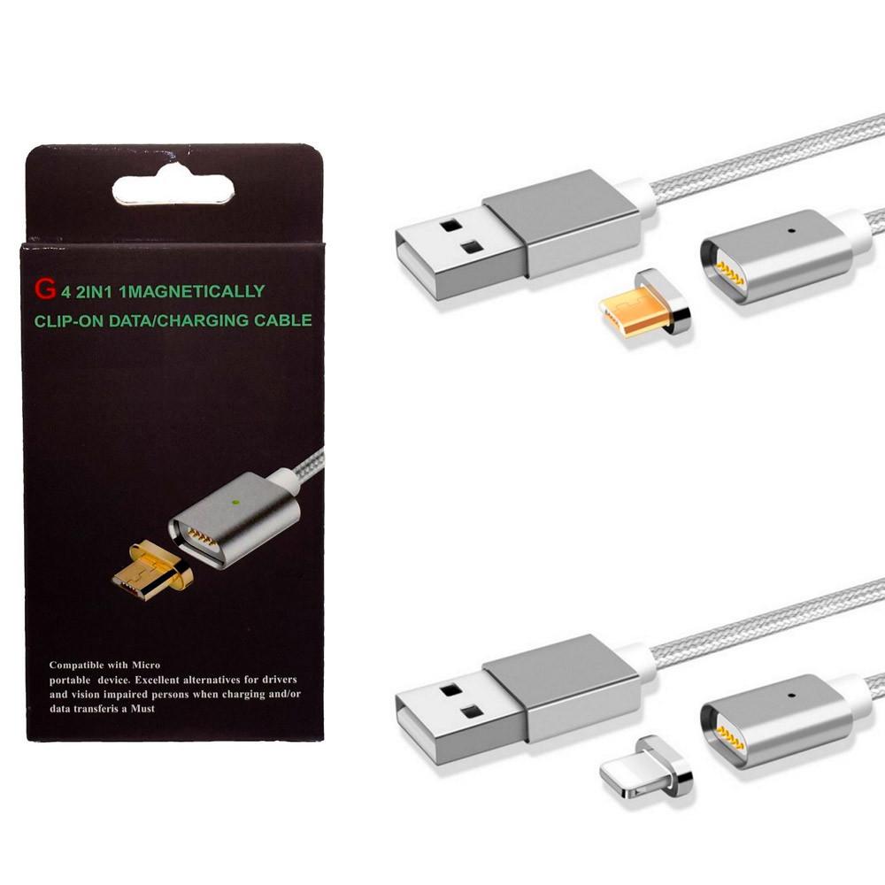 USB кабель магнит G4 2/1 iphone.micra
