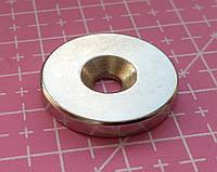 Неодимовый мощный магнит дисковый 25 х 4 мм N52 с отверстием magnet Neodymium магніт диск 25*4мм
