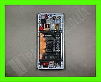 Дисплей Huawei P30 Pro Aurora (02352PGE) сервисный оригинал в сборе с рамкой, акб и датчиками