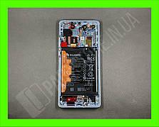 Дисплей Huawei P30 Pro Breathing Crystal (02352PGH) сервисный оригинал в сборе с рамкой, акб и датчиками