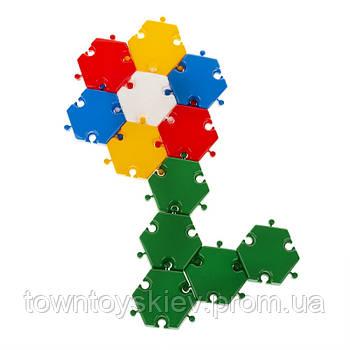 Детская мозаика-пазл №3 1-144, 40 деталей Ø60мм