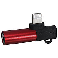 Переходник JH-027 Lightning To 3.5mm Adapter — Chain Red